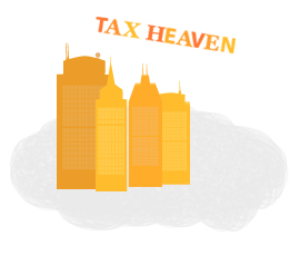 Illustration of tax heavens